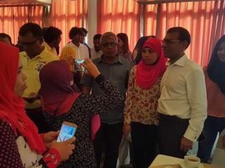 Ex-President Nasheed in SL