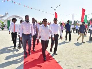 President Yameen inaugrates harbour in Maalhendhoo of Noonu Atoll