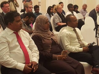 Ex-President Mohamed Nasheed meets press in Colombo, Sri Lanka
