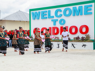 Maldives Olympics Committee receives warm welcome at Goidhoo in Baa Atoll