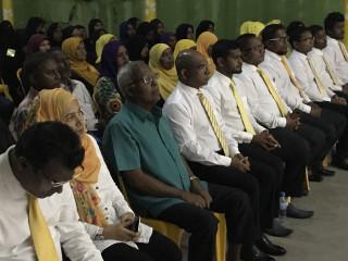 'Island President' rally in AA. Ukulhas