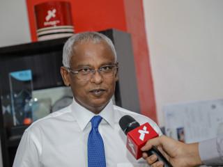 President-elect Solih visits RaajjeTV