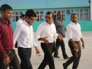 MDP leader visits Hoarafushi to launch candidate Ahmed Saleem's campaign